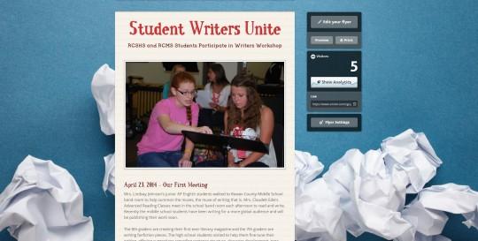 student writers unite