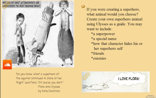 the 2 slides I was able to create using my free account. The image is large be sure to click on the 2nd page for the writing prompt.